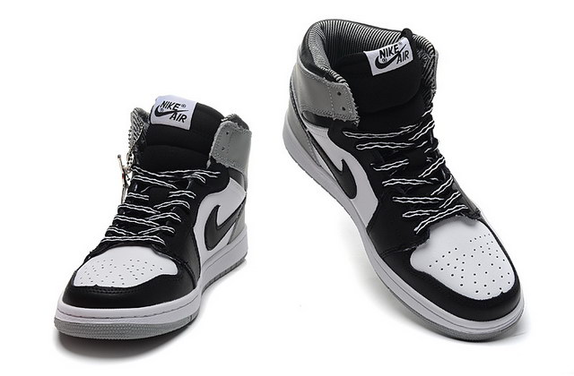Air Jordan 1 Retro High Baron OG Shoes Gray/black white