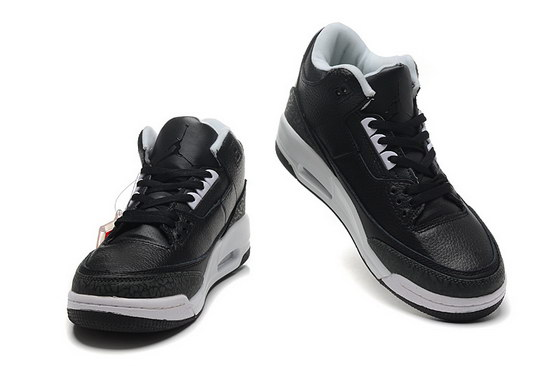 Air Jordan 3 Retro Shoes black/white