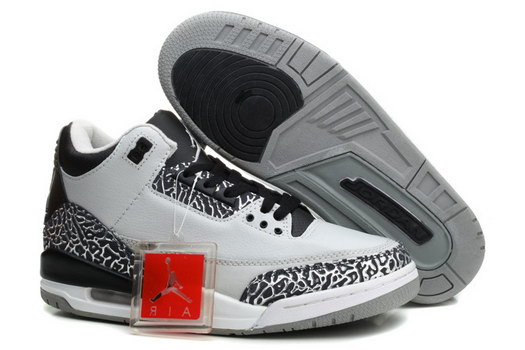 Air Jordan 3 Retro Shoes wolf grey/black