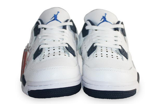 Air Jordan 4 Columbia Shoes White/blue