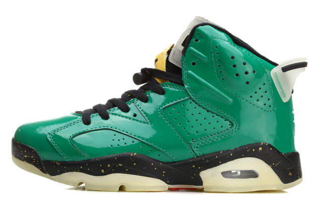 Air Jordan 6 Retro Shoes green/black