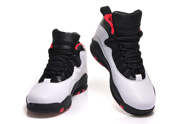 Air Jordan 10 Chicago 45 PE Shoes Double Nickel White/black red