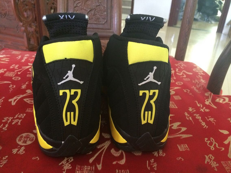 Air Jordan 14 Thunder Shoes Black/Vibrant Yellow White