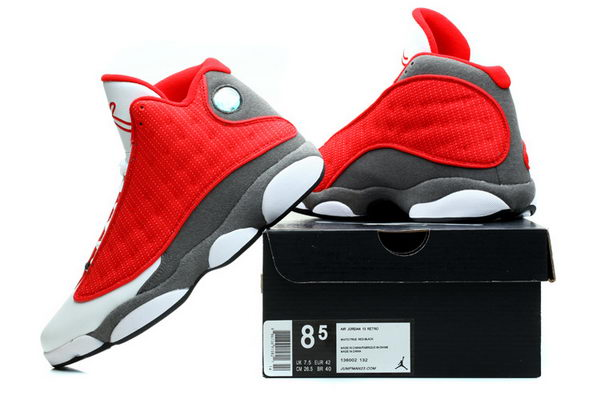 Air Jordan 13 Retro Shoes Red/white gray
