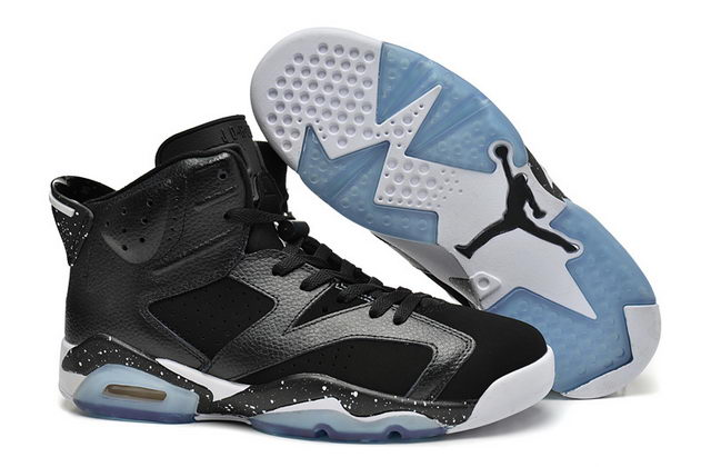 Air Jordan 6 Retro Shoes Black/white Oreo