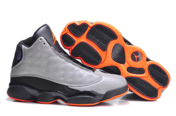 Air jordan 13 Retro Shoes silver/black orange