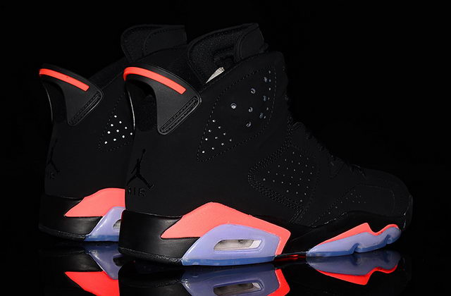 Air Jordan 6 Infrared Shoes Black/red infrared