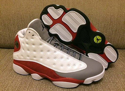 Air Jordan 13 Retro Shoes Grey/toe black white