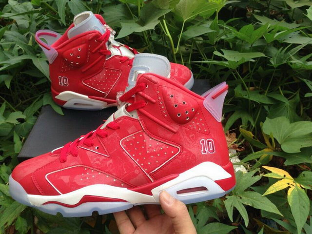 Air Jordan 6 Slam Dunk Shoes Red/white