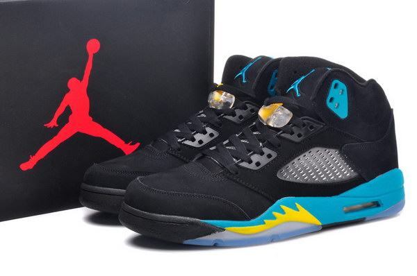 Air Jordan 5 Gamma Blue Shoes Black/gamma blue corn yellow