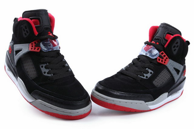 Air Jordan 3.5 Spizike Shoes Black/gray red - Click Image to Close