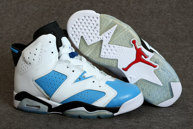 Air Jordan 6 Retro Shoes White/gamma blue white