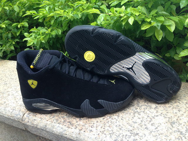 Jordan 14 Ferrari Shoes Black/yellow