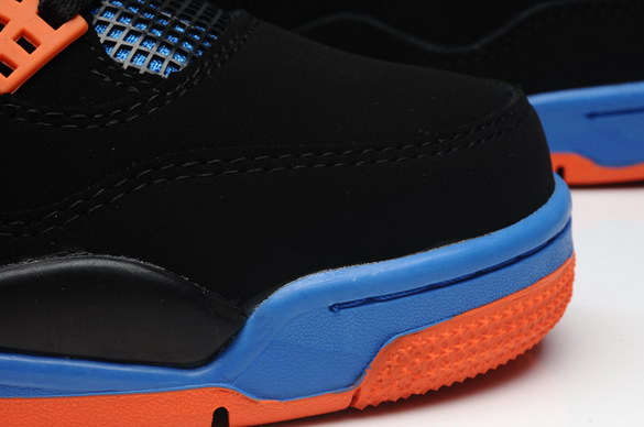Air Jordan 4 Retro Shoes black/blue orange