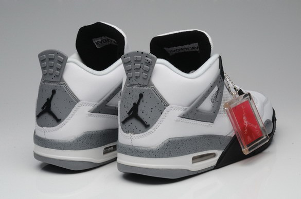 Air Jordan 4 Retro Shoes white/gray