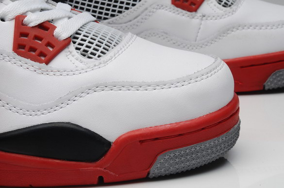 Air Jordan 4 Retro Shoes white/red/black
