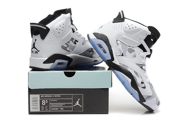 Air Jordan 6 Camouflage Shoes White/black