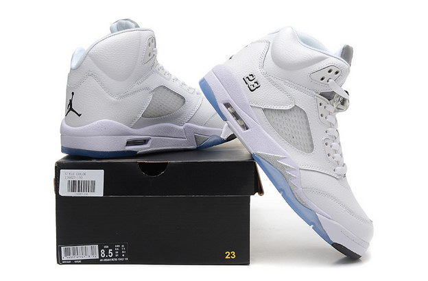 Air Jordan 5 Retro Shoes white/Metallic Silver
