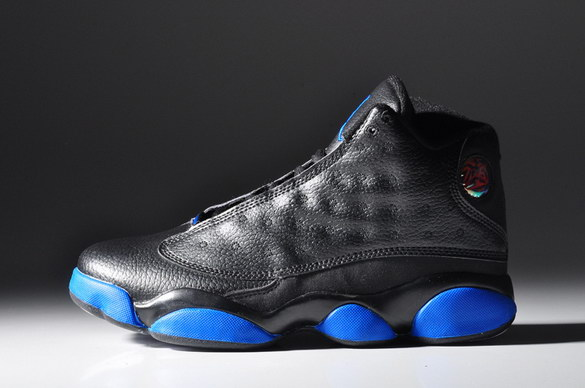 Air jordan 13 Retro Shoes Black/real blue