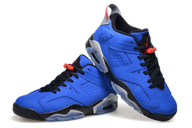 Air Jordan 6 Retro Low Shoes Real blue/black