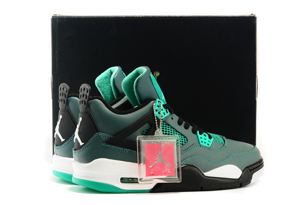 Air Jordan 4 Teal Shoes Green/black white