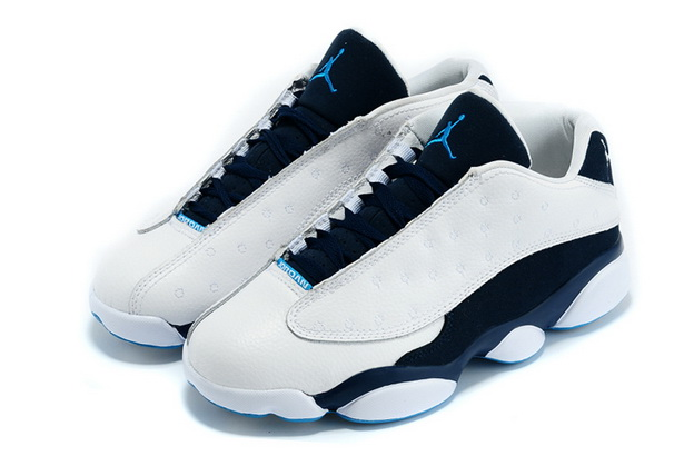 Air jordan 13 Low Shoes White/blue Black