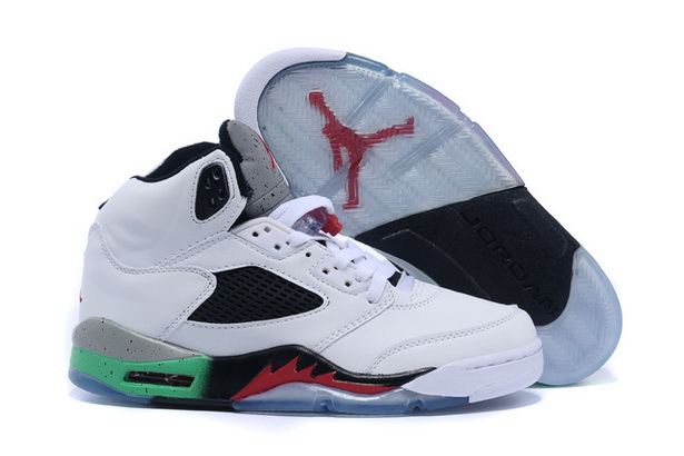 Air Jordan 5 Retro Shoes White/red green black
