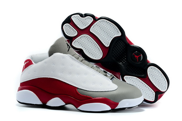 Air jordan 13 Retro Shoes Red wine/white wolf grey