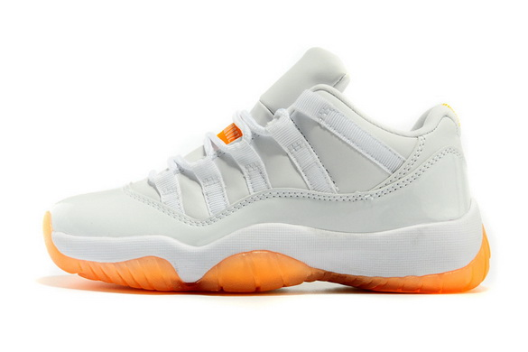 Air Jordan 11 Low Citrus Shoes White/yellow