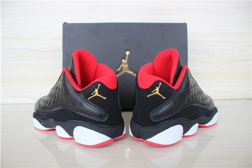 Air jordan 13 Low Shoes Black/white red