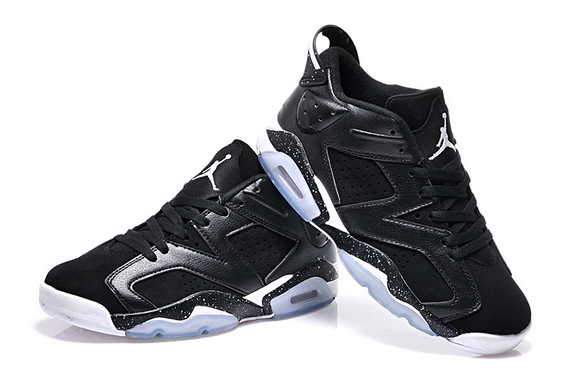 Air Jordan 6 Low Shoes Black/White