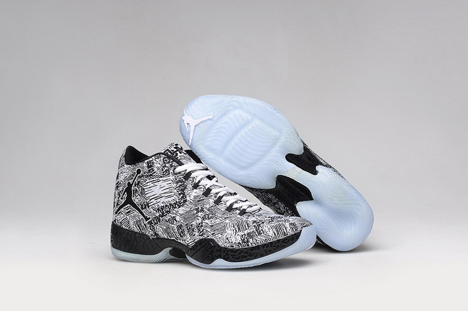 Air Jordan 29 Retro Shoes Black/White