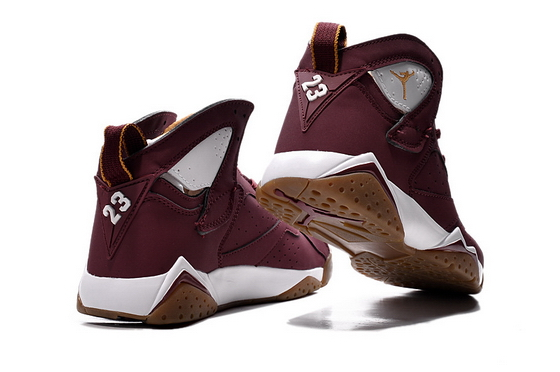 Air Jordan 7 Retro Shoes Red Brown/White