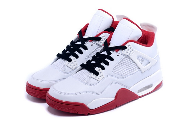 Air Jordan 4 Retro Shoes White/red