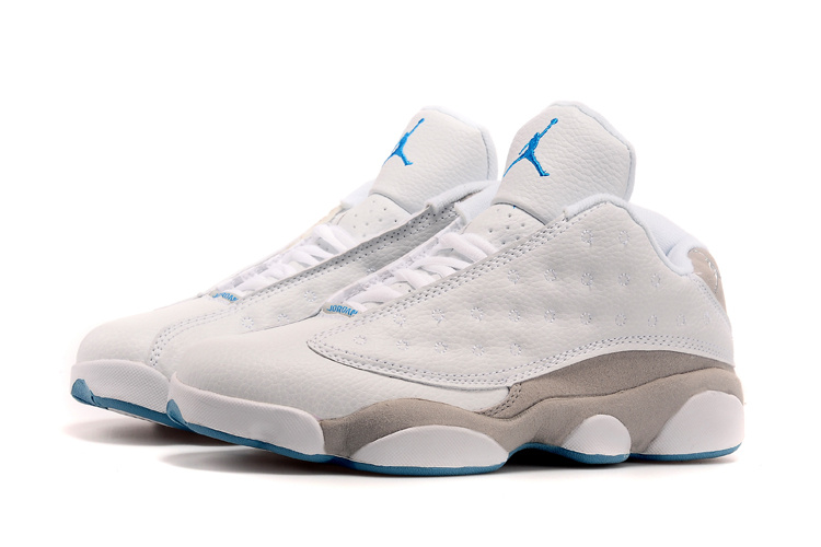 Air Jordan 13(XIII) Low Shoes White/grey blue