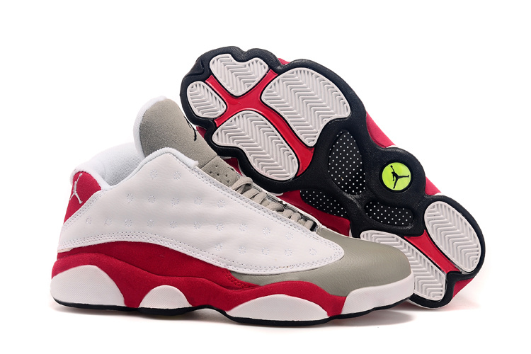 Air Jordan 13(XIII) Low Shoes White/Grey red