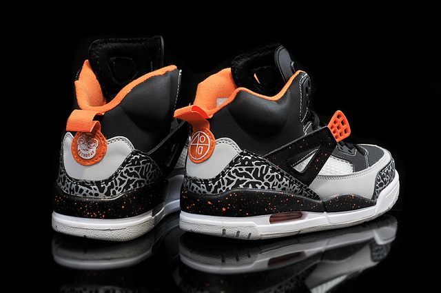 Air Jordan 3.5 Retro Shoes Black/orange grey