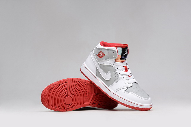 Air Jordan 1 Bugs Bunny Shoes White/grey red - Click Image to Close