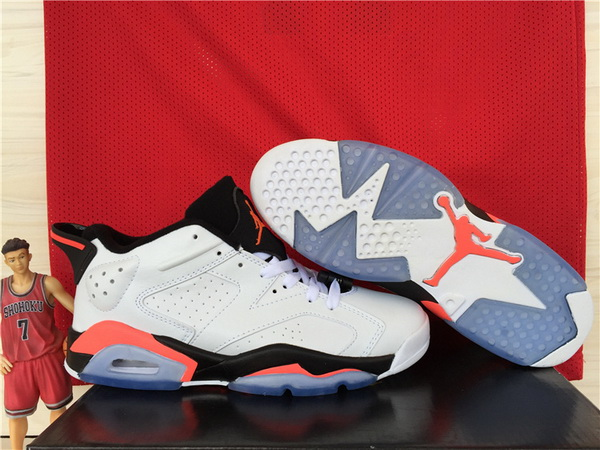 Air Jordan 6 Low infrared Shoes White/Infra red 23/black
