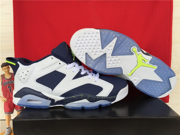 Air Jordan 6 Low Shoes Blue/white