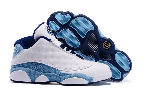 Air Jordan 13 Retro Shoes White/blue