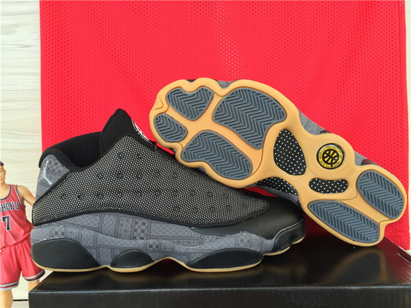Air Jordan 13 QUAI 54 Low Shoes Black/Khaki
