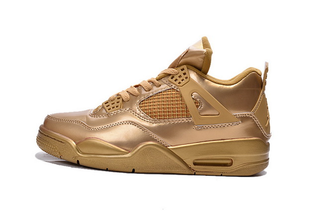 Air Jordan 4 Retro Shoes gold