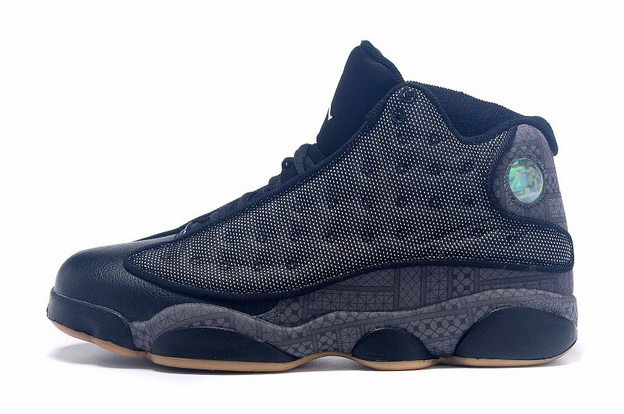 Air Jordan 13 High QUAI 54 Shoes Black/grey khaki