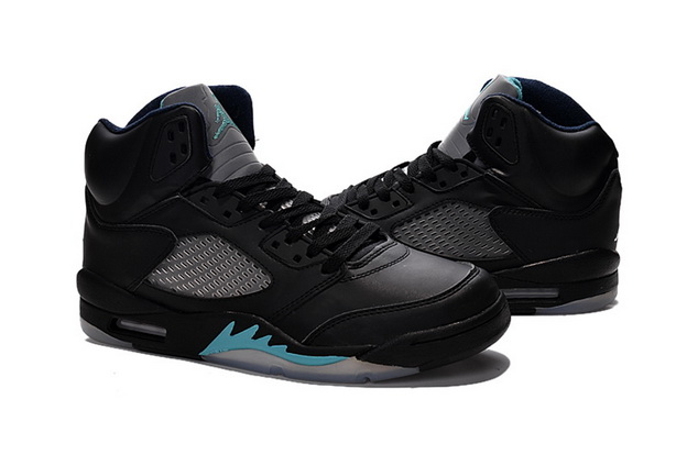 Air Jordan 5 Retro Shoes Black/blue