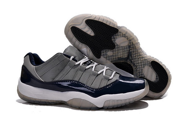 Air Jordan 11 Georgetown Shoes Blue/gray