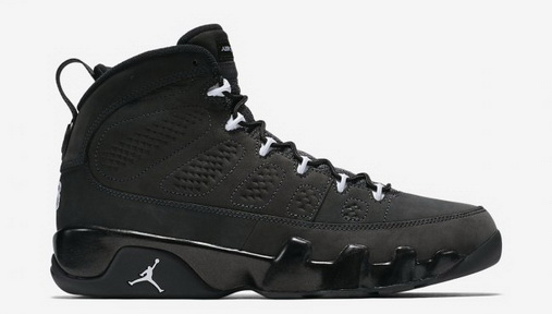 Air Jordan 9 Anthracite Shoes Black/white - Click Image to Close