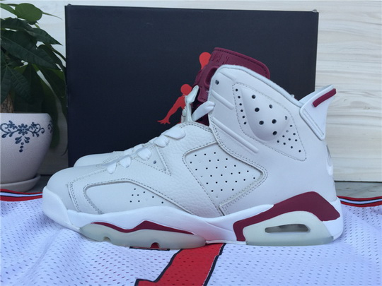 Air Jordan 6 Retro Shoes White/red