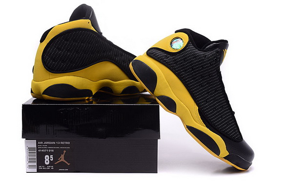 Air Jordan 13 Retro Shoes Black/yellow