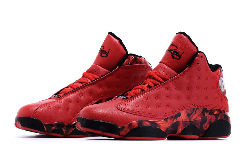 "Air Jordan 13 ""Ray Allen Heat"" Shoes Red/black"